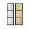 Admirable Wood Mirror Panel 2 Assorted, Black, Silver, Gold