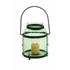 Benzara Metal Glass Lantern With Solid Metal Frame