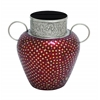 Benzara Royal Metal Glass Indian Mosaic Vase
