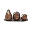 Benzara Wow! Set Of 4 Metal Mosaic Fruit