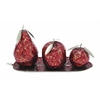 Benzara Aah! Set Of 4 Metal Mosaic Fruit