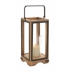 Benzara Amazing Styled Wood Metal Glass Lantern