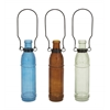 Benzara The Simple Glass Metal Bottle 3 Assorted