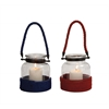 Benzara The Simple Glass Rope Lantern 2 Assorted