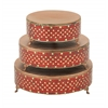Benzara Incredible Set Of Three Metal Mosaic Cake Stand