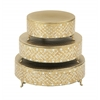 Benzara Amazing Set Of Three Metal Mosaic Cake Stand