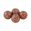 Benzara Multicolored Pvc Glass Red Mosaic Orb Set Of 4