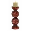 Benzara Elegant Metal Mosaic Candle Holder