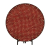 Benzara Superb Metal Red Mosaic Platter With Easel