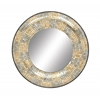 "Benzara Pretty Metal Mosaic Mirror 24""D"