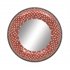 "Charming Metal Red Mosaic Mirror 24""D"