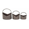 "Benzara Enthralling Set Of Three Metal Planter 12"", 14"", 18""W"