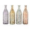"Benzara Appealing Glass Wire Bottle 4 Assorted 4""W, 12""H"