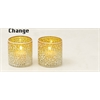 "Trendy Set Of Three Glass Mosaic Votive 3""W, 3""H"