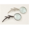 "Benzara Modish Aluminum Magnify Glass 2 Assorted 4""W, 11""H"