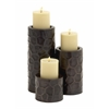 Benzara Very Beautiful Metal Candle Holder Set Of 3