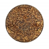 Benzara Modernly Styled Metal Brown Mosaic Wall Platter