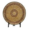 Benzara Beautiful Metal Mosaic Platter With Stand