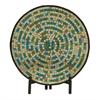 Benzara Mesmerizing Metal Mosaic Platter With Stand