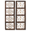 Benzara Sweet Wood Bell Wall Panel 2 Assorted