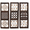 Benzara Unique Wood Bell Wall Panel 3 Assorted