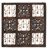 Benzara Spiritual And Timeless Wood Bell Wall Panel