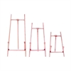 Elegant Metal Easel Copper, Copper, Set Of 3