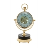 Benzara Elegant Brass Nickel Table Clock
