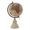 """Metal Wood Pvc Globe 9""""W, 15""""H"""