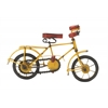 "Vintage Metal Wood Yellow Bicycle 11""W, 7""H"