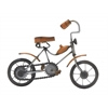 "Metal Wood Grey Bicycle 10""W, 8""H"