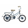 "Metal Wood Blue Bicycle 13""W, 10""H"