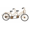 "Metal Wood Double Bicycle 24""W, 12""H"