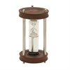 Chick Wood Aluminum Glass Floating Sand Timer, Chrome silver
