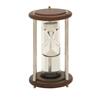 Astonishing Wood Aluminum Glass Floating Sand Timer, Chrome silver