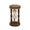 Beautiful Wood Metal Sand Timer, Natural wood