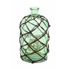 Benzara Contemporarily Netted Decorative Glass Bottle Vase