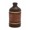 Benzara The Gem Terracotta Bottle Vase