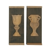 Benzara Vintage Styled Wood Wall Panel Set Of 2