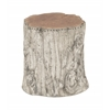 Benzara Rustic And Natural Teak Aluminum Stool