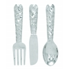 "Benzara Cutlery Wall Decor - Aluminum Utensil Set/3 23""H, 6""W"