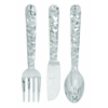 "Cutlery Wall Decor - Aluminum Utensil Set/3 36""H, 8""W"
