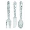 "Cutlery Wall Decor - Aluminum Utensil Set/3 36""H, 8""W"