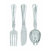 "Cutlery Wall Decor - Aluminum Utensil Set/3 23""H, 7""W"