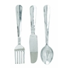 "Cutlery Wall Decor - Aluminum Utensil Set/3 35""H, 8""W"