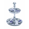 Two Tier Abrasion Resistant Pedestal Aluminum Candy Tray