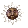 Classic Metal Sun Face Brass Wall Decor Art Sculpture, Bronze