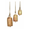 "Benzara Metal Rope Cow Bell Set/3 22"", 18"", 12"" Unique Home Accents"