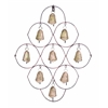 Benzara Unique Metal Bell Wall Plaque Featuring 9 Exclusive Bells