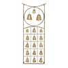 Metal Bell Wall Hanging Plague With Eighteen Bells In Exquisite Circle And Square Design